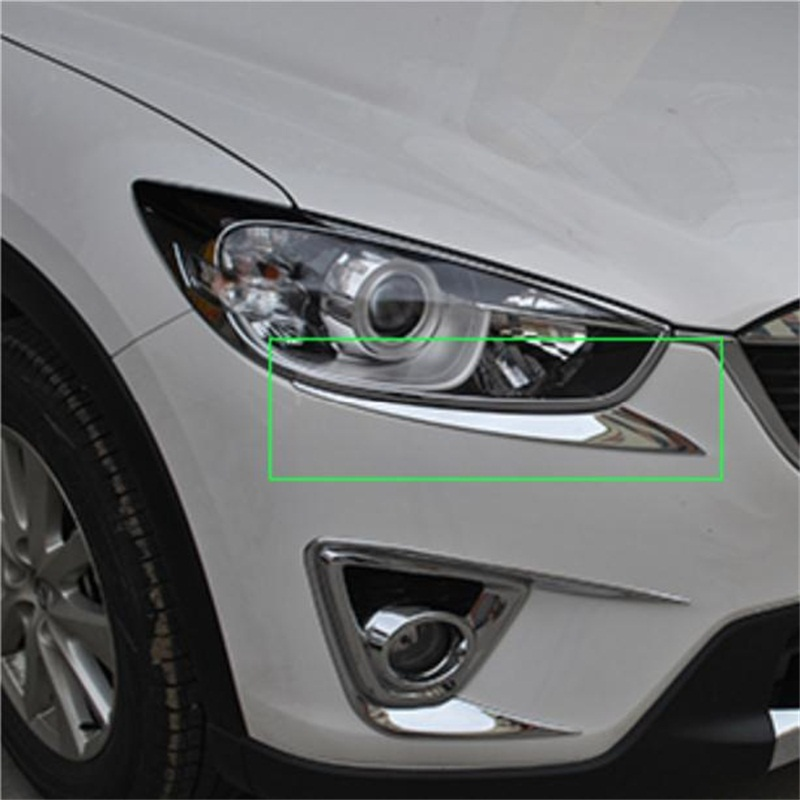 Car styling <font><b>accessories</b></font> Headlight Stickers Trim FOR <font><b>Mazda</b></font> CX-5 <font><b>2013</b></font> 2014 2015 2016 <font><b>CX5</b></font> cx 5 ABS Chrome Head Light Lamp Cover image