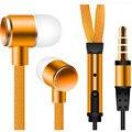 Libre de enredos auriculares estéreo en la oreja de metal cordón del auricular manos libres auriculares con micrófono de 3.5mm auriculares para iphone htc mp3 player
