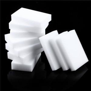 Image 1 - 100pcs 100 x 60 x 10mm  Melamine Sponge Magic Sponge High Density Eraser Home Cleaner Cleaning Sponges for dish Kitchen