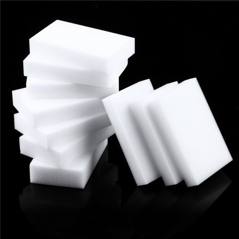 Esponja de borracha 100x60x10mm com 100 peças, esponja de limpar mágica de borracha, super apagador de descontaminação
