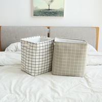 Fabric Fording Laundry Basket Storage Hamper Dirty Clothes Bucket Collapsible Laundry Bag Bin Clothing Organizer