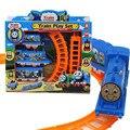 Amigos Thomas e trilhos de trem elétrico oito carros 8 faixas Mini Trem Elétrico Set Brinquedo Veículos brinquedos para as crianças brinquedos carro
