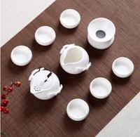 Top ceramics tea set 10 piece tea set crafts handmade RUYAO kungfu tea pot