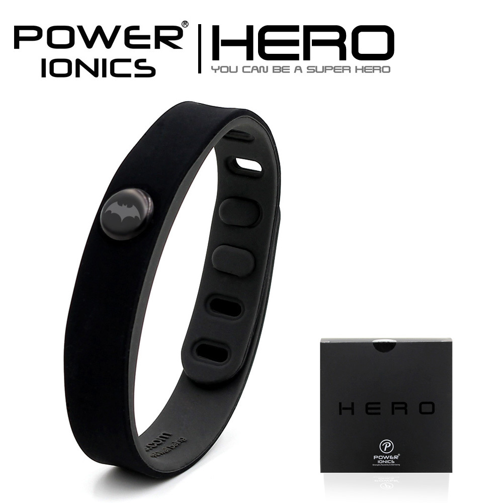 цена на Power Ionics Batman IDEA BAND 3000 ions Sports Waterproof Titanium Bracelet Wristband Balance Body
