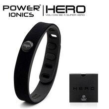 Poder Ionics Batman IDEA BANDA 3000 iones Deportes Impermeable Pulsera De Titanio Pulsera de Equilibrio Del Cuerpo