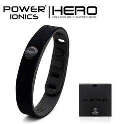 Power Ionics Batman IDEA BAND 3000 ions Sports Waterproof  Titanium  Bracelet Wristband Balance Body