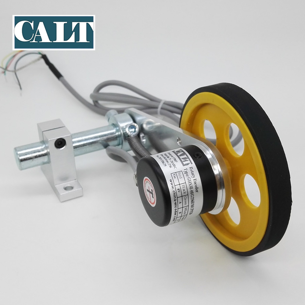Roller Wheel Length Position Meter Measuring Pulse Rotary Encoder High Resolution Spring Bracket Lift Rail Fabric