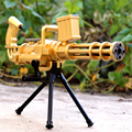 De los niños juguetes creativos Gatlin oro bombas de agua pistolas de ráfagas estalla de cristal pistola de bala suave niño contra el francotirador
