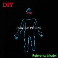 DIY Festival parti vêtements accessoires 10 Couleur Sélectionner par le Style de Papier forme personnes par DC-12V Botton Pilote