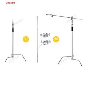 Складной светильник из нержавеющей стали 3,3 м со штативом для фотосъемки с-образной опорой, точечный светильник, софтбокс CD50 T03