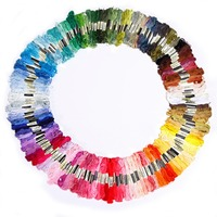200Pcs Multi Colors Cross Stitch Cotton Embroidery Thread Floss Sewing Skeins Craft