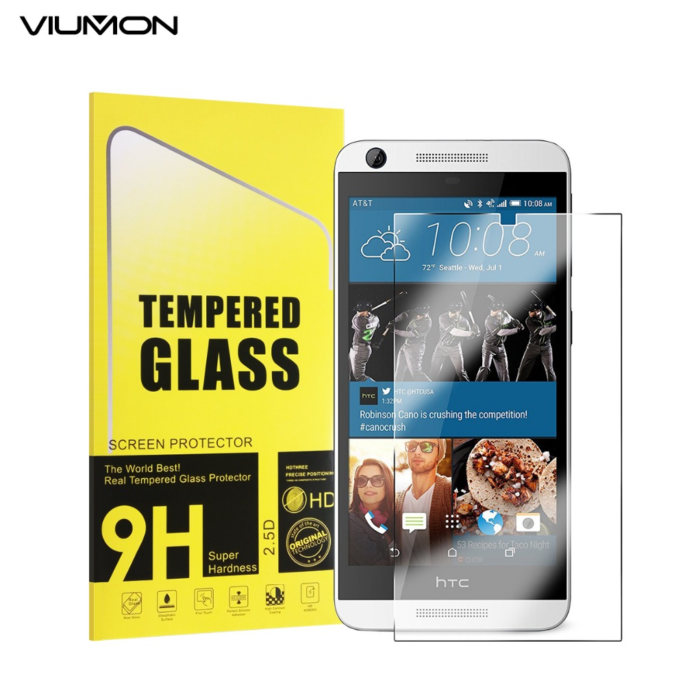 Tempered Glass Film 2.5D 9H Safety Protective Screen Protector For HTC Desire 626 Dual Sim 626s D626W D626n D626d 626G+ 4G Lte