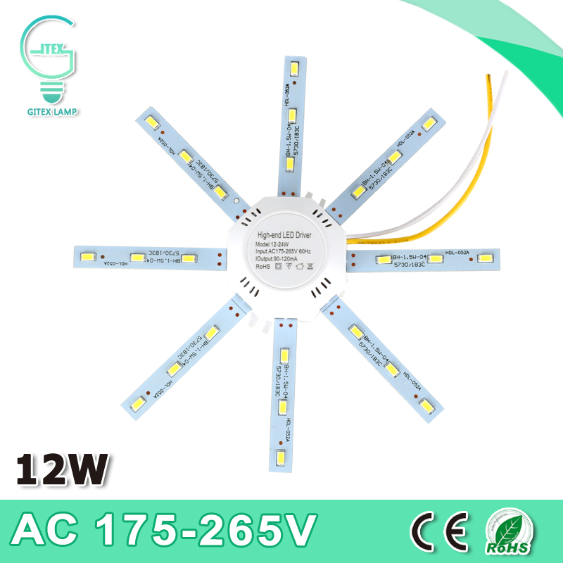 New 220V LED Ceiling Lamp Octopus Light 5730SMD 12W 24LED Energy Saving Long Life Expectancy Indoor Lighting 2017 new arrival ac 180 240v led ceiling lamp octopus light energy saving long life expectancy indoor lighting free shipping