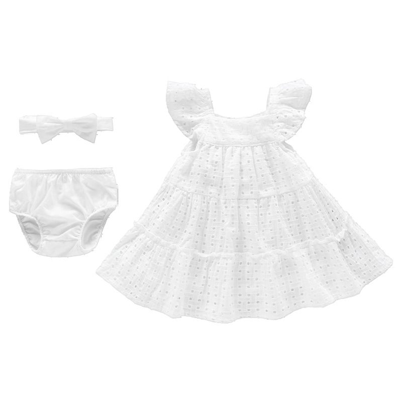 03225fd32ee32 Vlinder Baby Girl dress baby clothes Summer Princess Style Cute Bow ...
