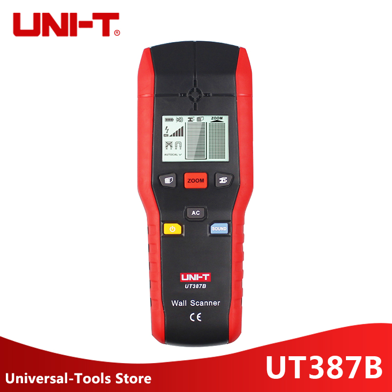 UNI-T UT387B UT387B Detectores De Metal Industrial Handheld Scanner De Parede de Madeira Parede AC Cabo Localizador Scanner Precisa de Diagnóstico-ferramenta