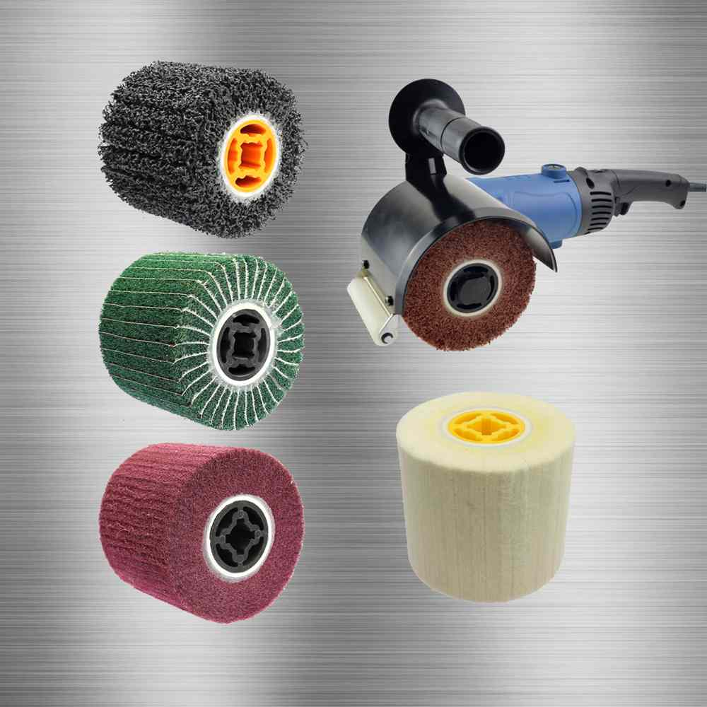 Stainless Steel Polishing Wheel 120/110*100*19mm Wheel Sander Deburring Grinding Mirror Finish Tool