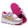 1 ou 2 Rodas Sapatilhas Novas Crianças Ao Ar Livre Sapatos Meninas meninos de Verão Sapatos Da Moda Para Crianças Sapatos EU28-43 Rodas Do Rolo Sneakers