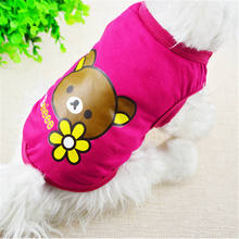 Fashion Cartoon Printed Pet Cat Vest Clothes Small Dog Puppy Shirt in Spring and Summer Cheap Apparel