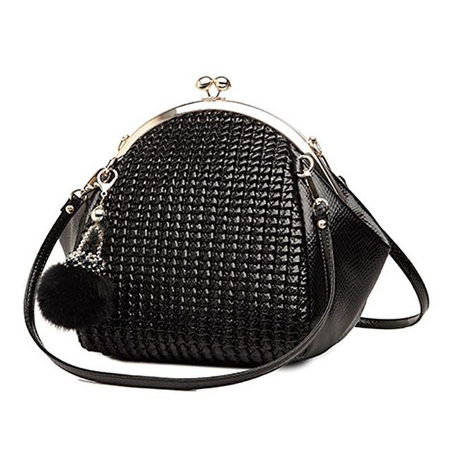 New Fashion Luxury Women Handbag Shoulder Bag Pu Leather Black Seashell Famous Designer Vintage