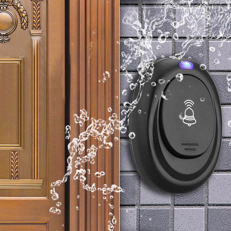 220V Waterproof EU Plug Wireless Remote Control Receiver and Button AC Digital LED 36 Cord Song Music Home Doorbell deurbel220V Waterproof EU Plug Wireless Remote Control Receiver and Button AC Digital LED 36 Cord Song Music Home Doorbell deurbel