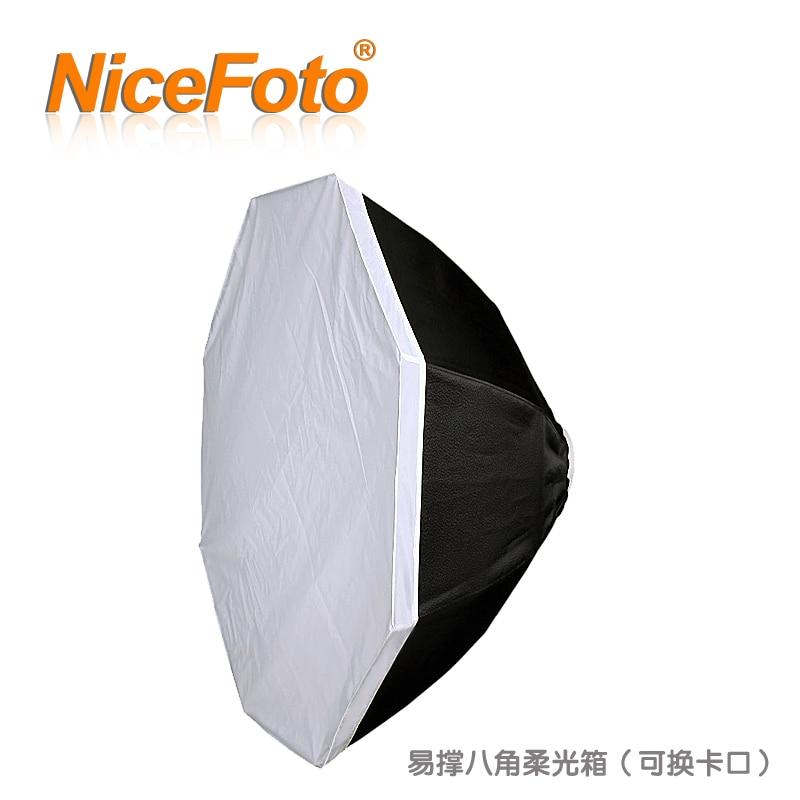 NiceFoto Фотографического Оборудования студии огни напольный светильник общие восьмиугольная softbox feob Фи. 110 см