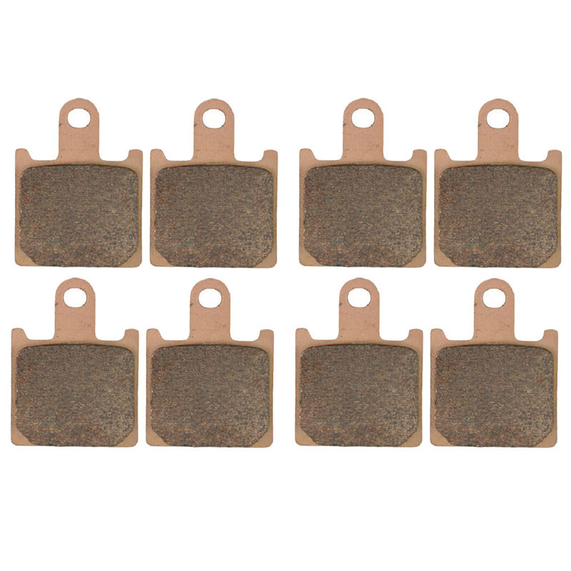 Motorcycle Parts Front & Rear Brake Pads Kit For KAWASAKI ZX14 ZX 14 Ninja ZX1400 ZX 1400 A/C 2006-2014 Copper Based Sintered for kawasaki ninja zx 14r 2006 2012 adjustable motorcycle rear lowering links kit motor spare parts replacement black