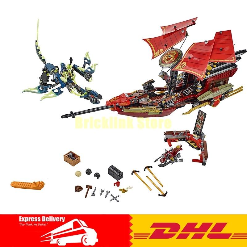 купить LEPIN 06020 1325pcs Ninja Final Fight of Destiny\'s Bounty Building Blocks Compatible 70738 Brick Toy недорого