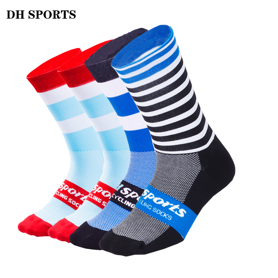 DH SPORTS New Professional Brand Outdoor Cycling Socks Breathable Road Bicycle Socks Individuality Mountain Bike Racing Socks high quality professional brand sport socks breathable road bicycle socks mountain bike socks racing cycling socks