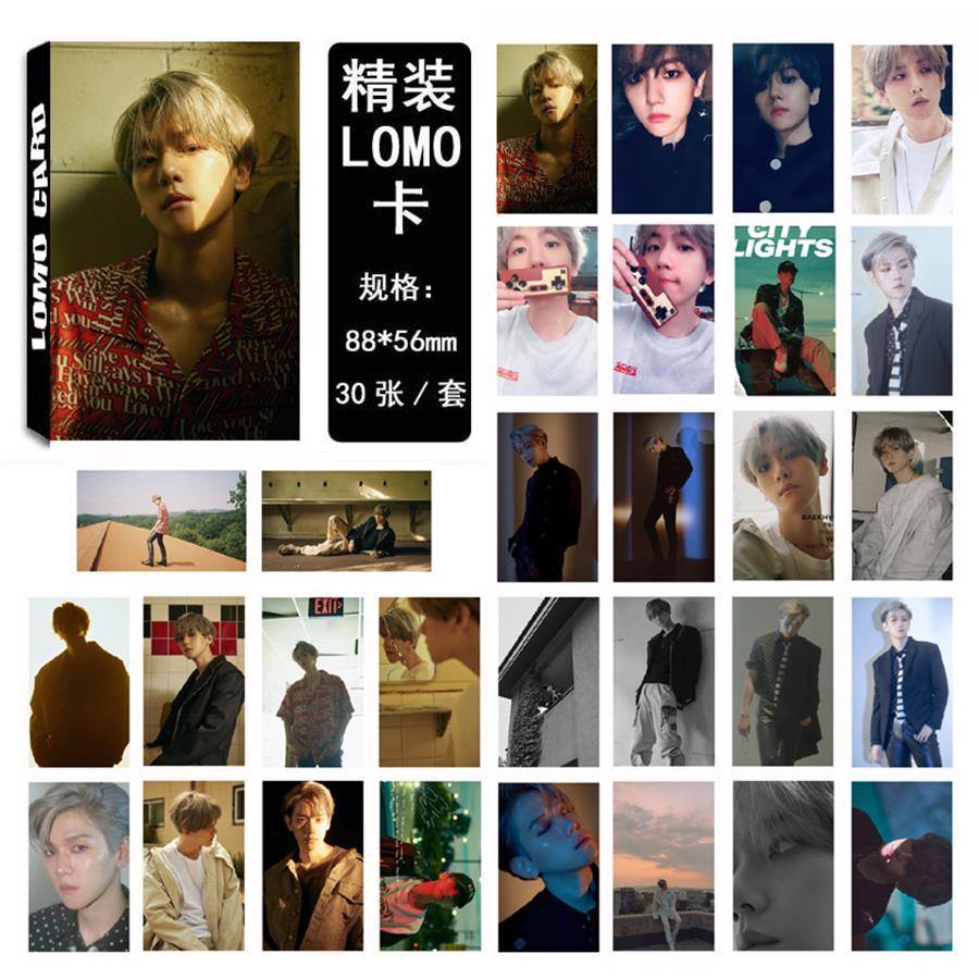Kpop EXO Baekhyun Solo Paper Lomo Photo Card New Album HD Photocard Collective Cards 30pcs/set