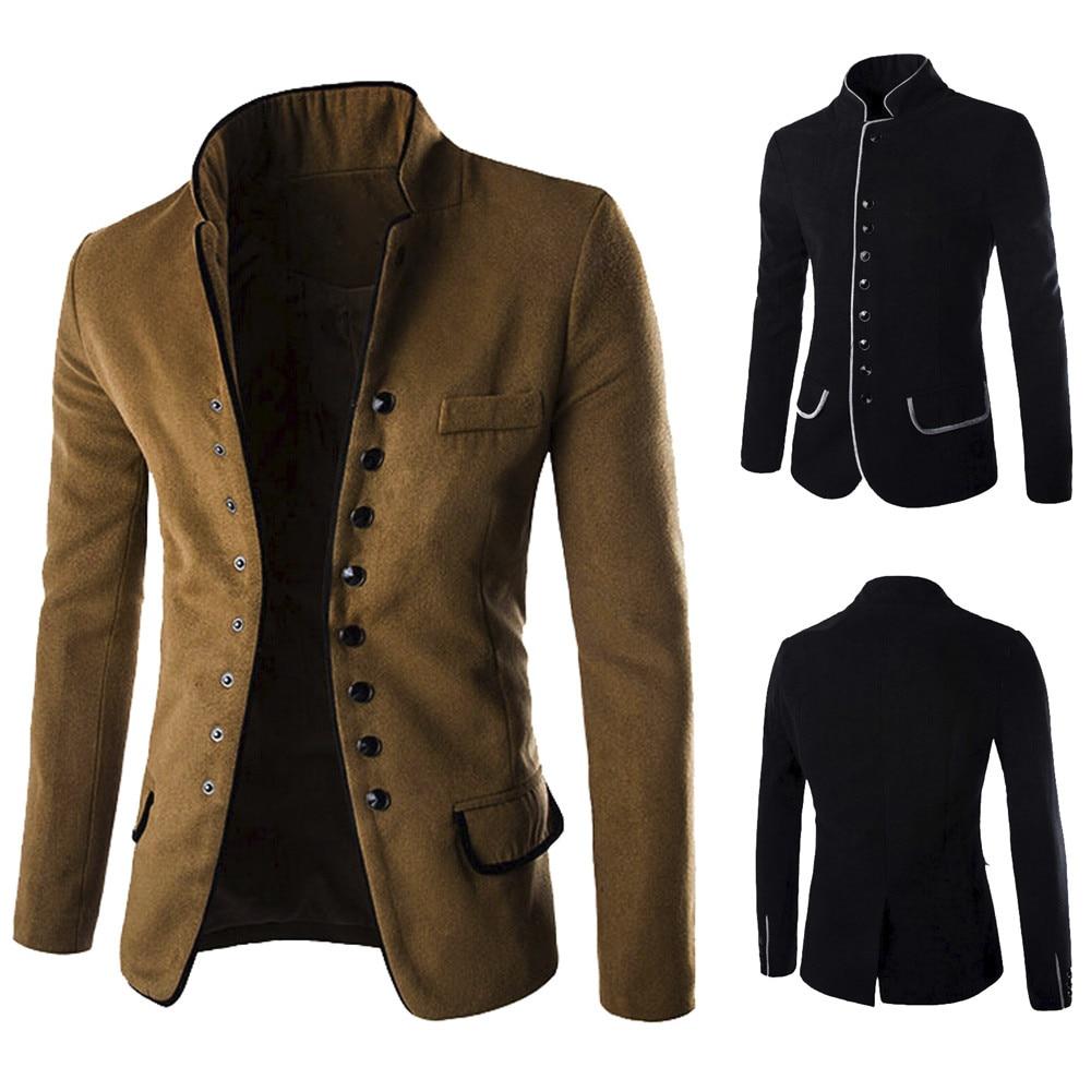2018 Neue Mode Männer Casual Herbst Winter Taste Feste Mantel Formale Langarm Strickjacke Pullover Top Outwear Bluse Plus Größe