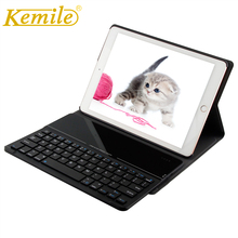 Kemile For ipad pro 9.7 Case Ultra Slim Glass Bluetooth 3.0 Keyboard Cover for iPad pro 9.7 case W Removeable Keyboard Keypad стоимость