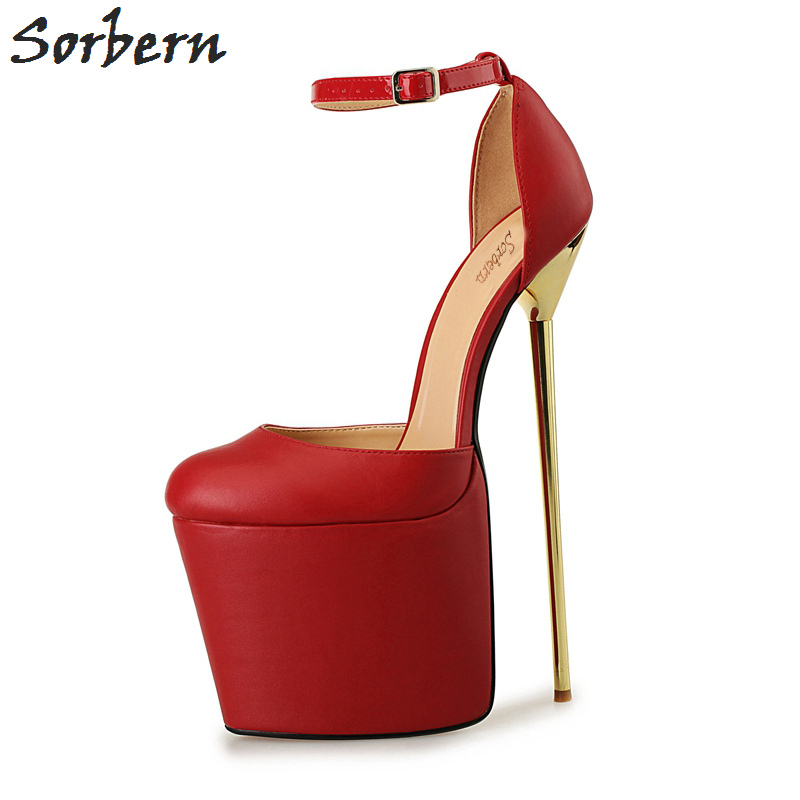 Zapatos Cm Tacones Alta Alto Extrema Baile rojo Unisex 50 Sorbern Mujer Club Plataforma 2017 blanco De Con 20 Negro Noche Tamaño Fiesta 40 qxwSEXC0