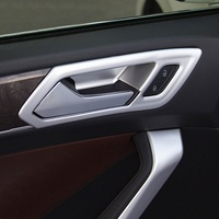 ABS Matte For Touran 2016 2017 2018 2019 Car inner door Bowl protector frame Cover Trim accessories car styling 4pcs