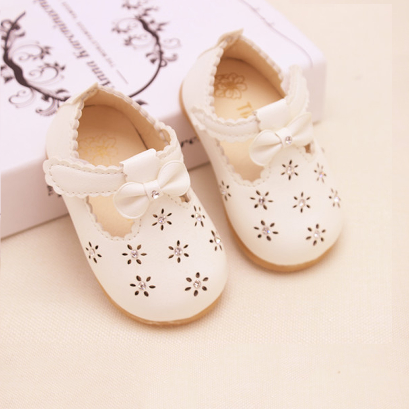2016 New Baby Girls Shoes Cute Bowknot Flat Shoes Kids