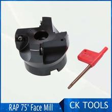 factory wholesale APMT1135 APMT1604 RAP 300R 50-22-4T 400R63-22-4T 75 Degree Positive Head CNC Milling Cutter face mill