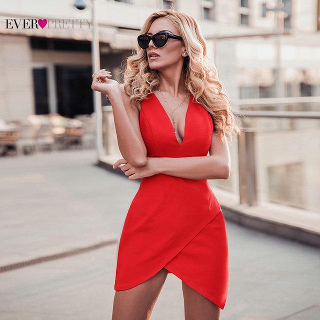Vestidos de cocktail de ano novo curto sempre bonito 2020 vermelho sem mangas sereia mini 3 estilos robe cocktail sexy vestidos de baile