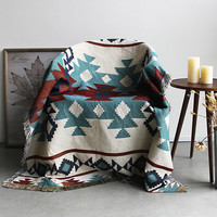 High Quality Bohemian Cotton Knitted Decorative Sofa Blanket Thread Blanket for Beds Soft Bed Vintage Home Decor Tapestry