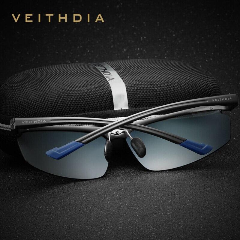 VEITHDIA - Lunettes de soleil - Homme bleu bleu/noir WaJd1KPWV8