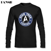 Star Trek Unique T Shirts For Men Long Sleeve O Neck Cotton Men Tee Shirt 3XL