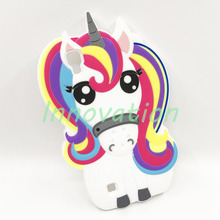 Hot Cute 3D Rainbow Unicorn Pony Horse Animal Cartoon Soft Silicone Phone Cases Cover For LG K7 K10 Leon X Power K8 2017 Fundas