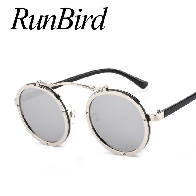 Vintage Round Metal Steampunk Sunglasses