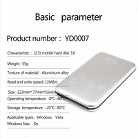 NEW 2.5inch 500G Portable Mobile Hard Disk Drive USB 3.0 External HDD 320MB/S Hard Drive for Desktop Laptop