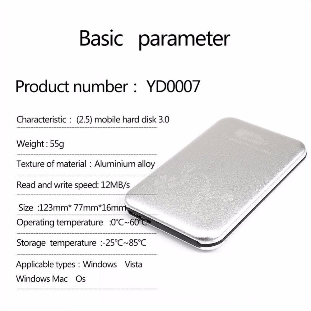 NOUVEAU 2.5 pouces 500G Portable disque dur externe Lecteur USB 3.0 disque dur externe 320 MO/S Disque Dur pour Ordinateur Portable De Bureau