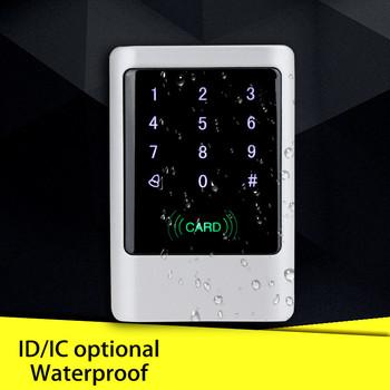IP65 wodoodporna metalowa kontroler dostępu RFID dotykowy plansza 125 KHz 13 56 MHz MF czytnik kart inteligentnych do kontroli dostępu do drzwi system tanie i dobre opinie OBO RĘCE Touch metal access control keypad 1000 karty użytkownika DC9V-16V ID OR IC Card Stop aluminium 0-10cm 125*84*23 mm