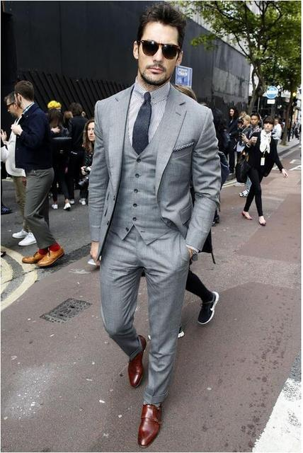 Custom Made Charcoal Grey Black Groom Tuxedos Latest Coat Pant Designs Groomsman Wedding Suit For Men