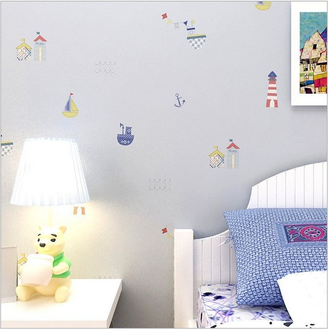 papel pintado para nios no tejida wallpapers para nios dormitorio de dibujos animados mural preciosos