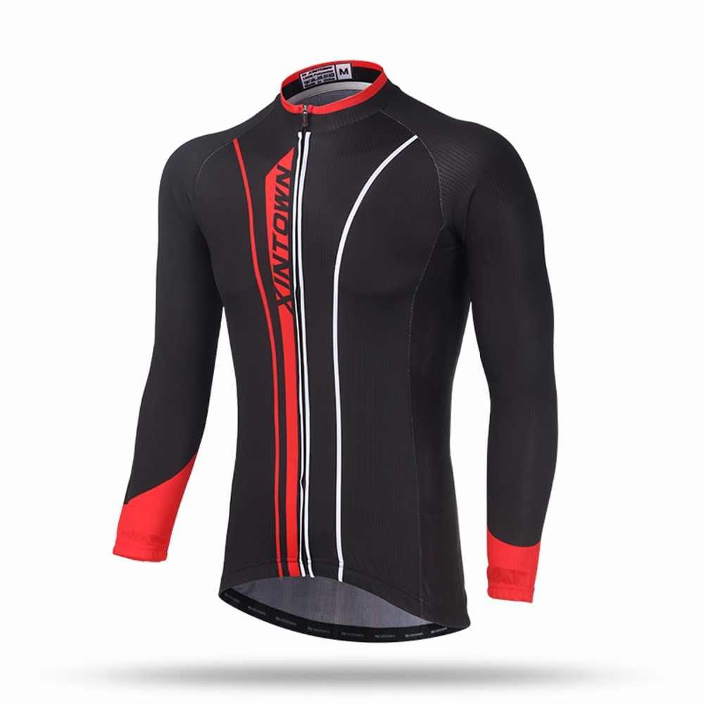 Męskie koszulki rowerowe Pro Fit rower szosowy MTB koszulka wiosna jesień odzież rowerowa Quick-suszenia oddychająca jazda na rowerze Jersey