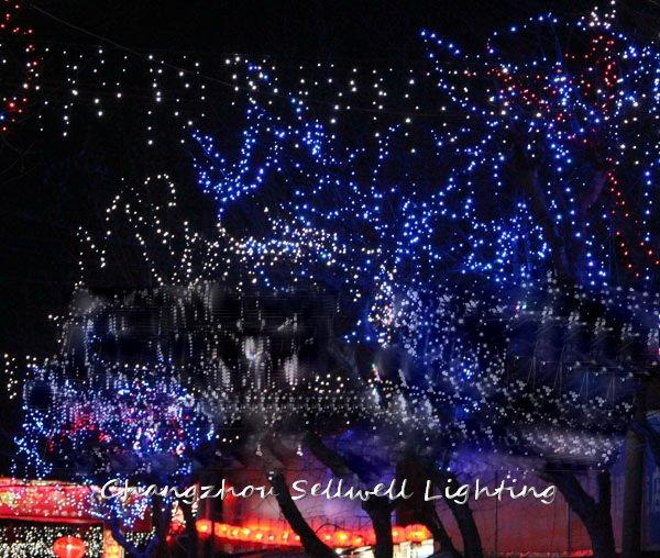 Good!festival Lighting Yard Decoration Coloured Bulb Twinkle 10m Blue Led Star Lamp H159