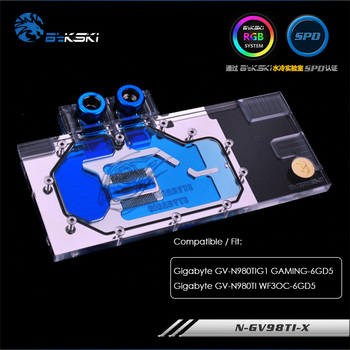 Bykski water block fit Gigabyte GV 980TIG1 GAMING-6GD5 ,Copper Radiator Gigabyte GV-N980TI WF3OC-6GD5 ,GPU Cooler ,N-GV98TI-X