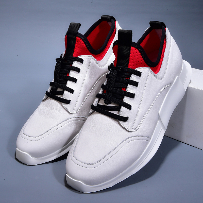 spring and autumn new casual men's shoes Genuine Leather leather shoes men white all-match cowhide breathable sneaker fashion 2017 fashion red black white men new fashion casual flat sneaker shoes leather breathable men lightweight comfortable ee 20